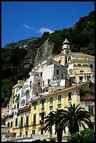 Hillside houses and church, Amalfi. Amalfi Coast, Campania, Italy ( color)