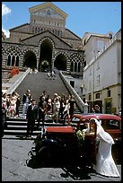 Wedding in front of Duomo Sant'Andrea, Amalfi. Amalfi Coast, Campania, Italy ( color)