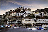 Wedding cake hill at sunset, Positano. Amalfi Coast, Campania, Italy