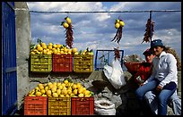 Lemon vendors. Amalfi Coast, Campania, Italy ( color)