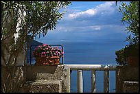 Sea seen from a terrace of Villa Rufulo, Ravello. Amalfi Coast, Campania, Italy