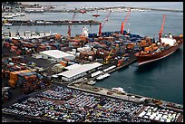 Industrial port of Salerno. Amalfi Coast, Campania, Italy