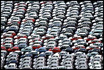 Cars waiting for shipping in Salerno port. Amalfi Coast, Campania, Italy (color)