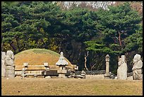 Jeongneung, royal tomb of the Joseon Dynasty, Samreung Gongwon. Seoul, South Korea (color)