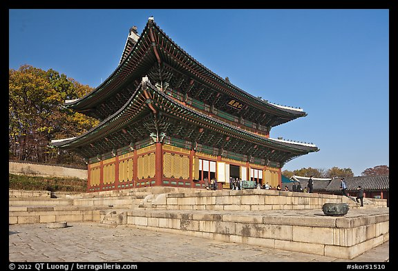 Throne Hall, Changdeokgung Palace. Seoul, South Korea