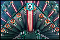 Painted beams, Changdeokgung Palace. Seoul, South Korea