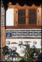 Window, hanok house. Seoul, South Korea (color)