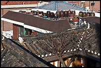 Tile rooftops of Hanok houses. Seoul, South Korea (color)