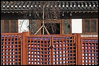 Traditional house facade and fence. Seoul, South Korea ( color)