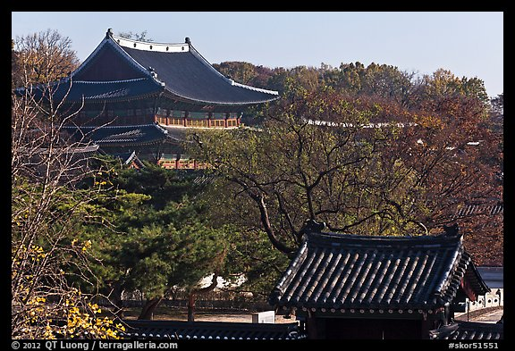 Changdeokgung Palace complex. Seoul, South Korea (color)