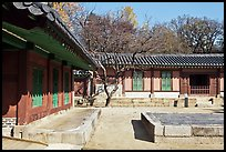 Jeongsa-cheong, Jongmyo shrine. Seoul, South Korea (color)
