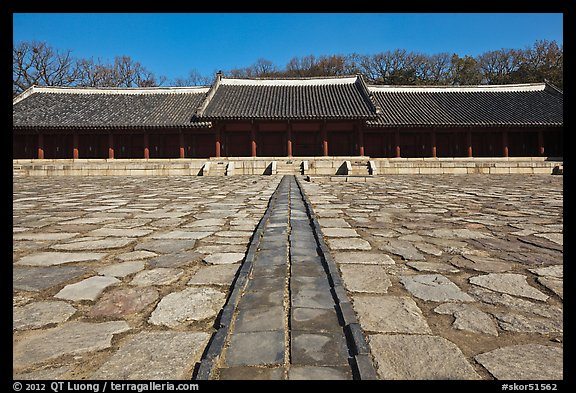 Jongmyo royal ancestral shrine. Seoul, South Korea (color)