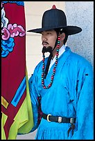 Jeongbyeong (regular soldier from Joseon dynasty), Gyeongbokgung. Seoul, South Korea ( color)