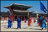 Ceremony of gate guard change, Gyeongbokgung palace. Seoul, South Korea ( color)