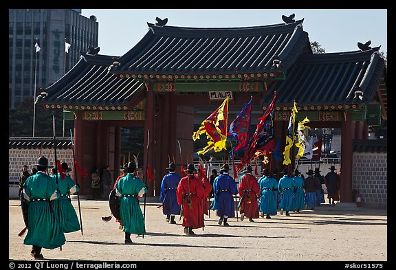 Ceremony of gate guard change, Gyeongbokgung. Seoul, South Korea