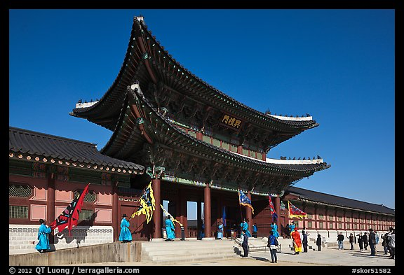 Heugnyemun gate, Gyeongbokgung. Seoul, South Korea (color)