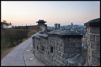 Inside Suwon Hwaseong Fortress wall. South Korea