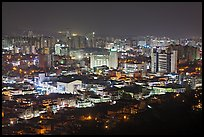 Suwon city at night. South Korea ( color)