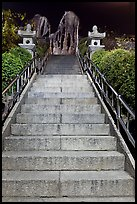 Stairs leading to sacred rocks, Seon-bawi. Seoul, South Korea (color)