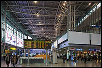 Main concourse of Seoul train station. Seoul, South Korea (color)