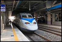 High speed KTX train. Daegu, South Korea (color)