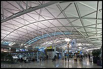 Incheon international airport main concourse. South Korea ( color)