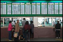Bus terminal counter. Daegu, South Korea ( color)