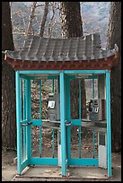 Phone booths near Haeinsa. South Korea ( color)