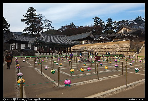 Labyrinth, Haeinsa Temple. South Korea (color)