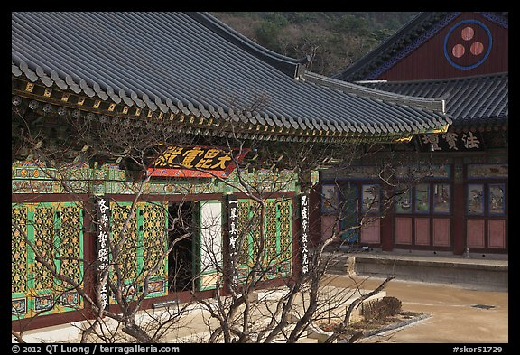 Buddhist temple detail, Haein-sa. South Korea