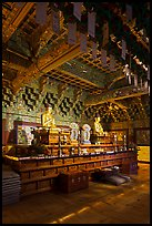 Gilded temple interior, Haein sa Temple. South Korea