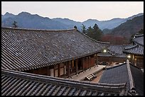 Rooftops, Haeinsa Temple. South Korea ( color)
