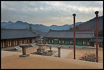 Haeinsa Temple and Gaya Mountains, evening. South Korea