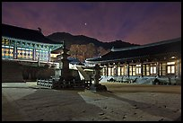 Haeinsa Temple at night. South Korea