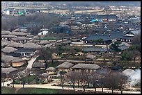 Village seen from above. Hahoe Folk Village, South Korea (color)