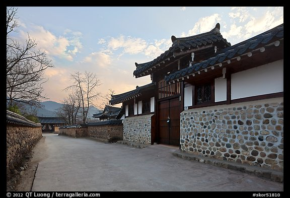 Bukchom residence. Hahoe Folk Village, South Korea (color)