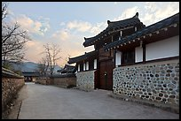 Bukchom residence. Hahoe Folk Village, South Korea ( color)