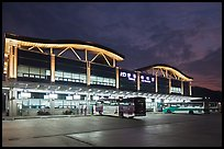 Bus terminal, Andong. South Korea (color)