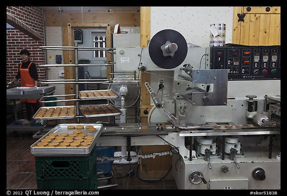 Gyeongju barley bread factory. Gyeongju, South Korea (color)