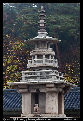 Dabotap pagoda, Bulguk-sa. Gyeongju, South Korea (color)