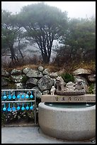 Sacred water fountain, Seokguram. Gyeongju, South Korea (color)