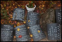 Multilingual well-wishing tablets, Seokguram. Gyeongju, South Korea (color)