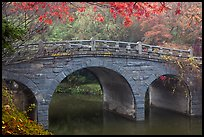Stone bridge and fall colors, Bulguk-sa. Gyeongju, South Korea (color)