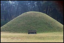Royal tomb of Silla king Gyongae, Namsan Mountain. Gyeongju, South Korea (color)