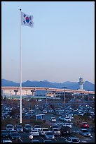 Parking lot of airport, Busan. South Korea ( color)