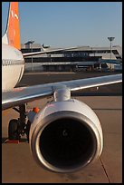 Jet engine, Gimhae International Airport, Busan. South Korea ( color)