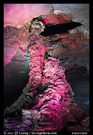 Lava column, Geomunoreum. Jeju Island, South Korea (color)