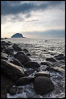Boulder coastline, Seogwipo-si. Jeju Island, South Korea (color)