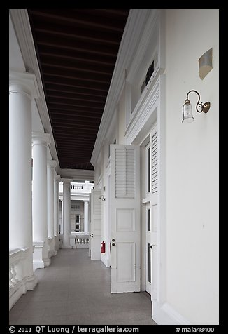 Gallery outside supreme court. George Town, Penang, Malaysia (color)