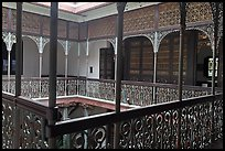 Inside courtyard veranda, Cheong Fatt Tze Mansion. George Town, Penang, Malaysia ( color)